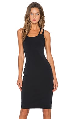 Halston Heritage Cut Out Neckline Dress in Black
