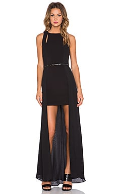 Halston Heritage Hi Lo Gown in Black