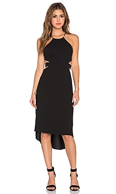 Halston Heritage Cut Out Halter Dress in Black