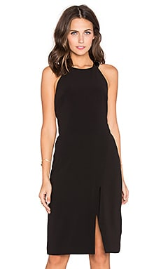 Halston Heritage T Back Halter Dress in Black