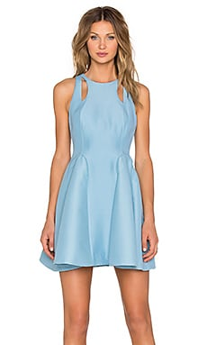 Cut Out Fit & Flare Dress en Glacier