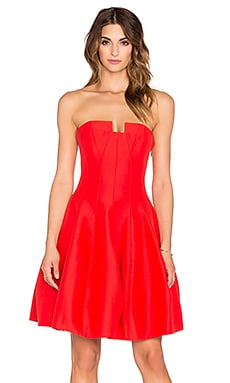 Strapless Structured Mini Dress in Lipstick
