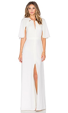 Halston Heritage Elbow Sleeve Gown in Eggshell