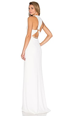Trapezoid Back Dress in Linen White