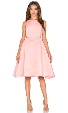 Halston Heritage Cut Out Dress in Parfait Pink
