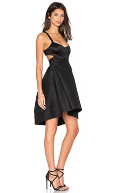 Halter Cut Out Dress in Black