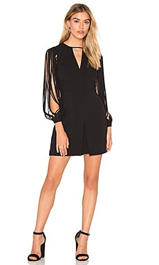 Halston Heritage Strappy Sleeve Dress in Black