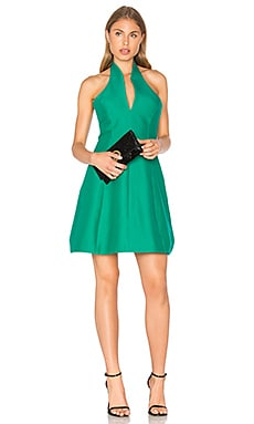 Organic Notch Neck Dress in Emerald