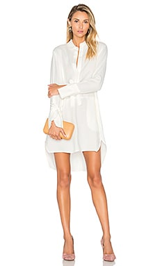 Halston Heritage Hi Lo Shirtdress in Chalk