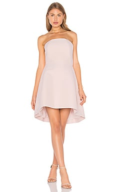 Halston Heritage Strapless Structured Dress in Barely Pink