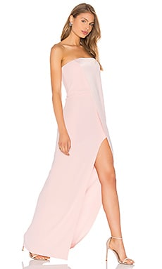 Halston Heritage Strapless Gown in Barely Pink