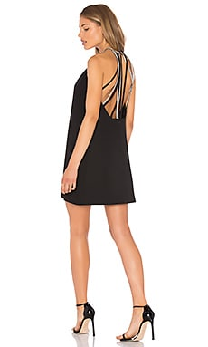 Halston Heritage High Neck Dress in Black