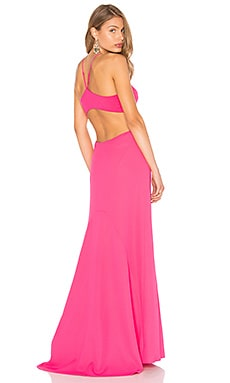 Halter Neck Gown in Begonia