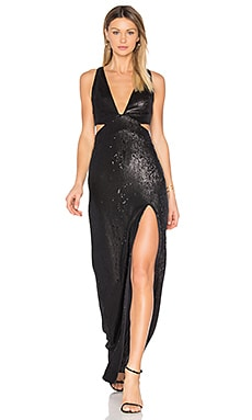 Sequin Gown in Black