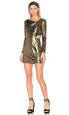 Cut Out Dress in Bronze