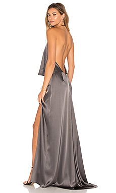 Halter Low Back Dress en Graphite