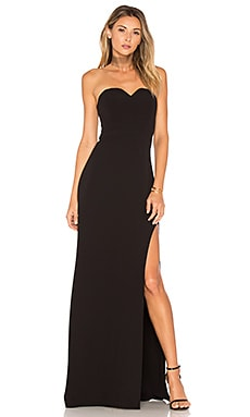 High Slit Gown en Noir