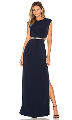 Gown in Dark Navy & Gunmetal