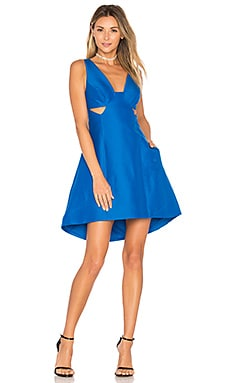Cut Out Dress in Lapis