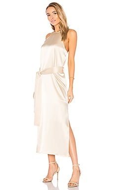 Racer Slip Dress in Golden Pearl