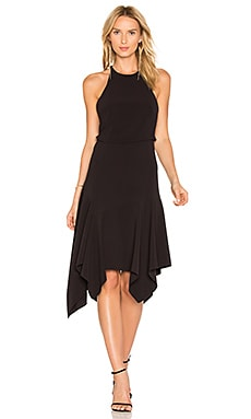 Halter Midi Dress in Black