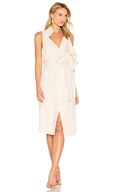 Draped Wrap Dress in Cream