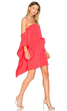 One Sleeve Mini Dress en Poppy