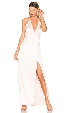 V Neck Slip Gown in Primrose