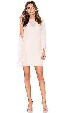 Fitted Ponte Dress With Sheer Overlay in Primrose