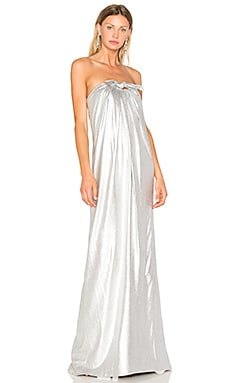 Gown With Front Twist in Silver