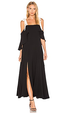 Cold Shoulder Gown With Flounce Detail