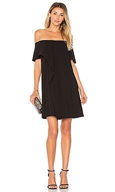 Cold Shoulder Asymmetrical Drape Dress