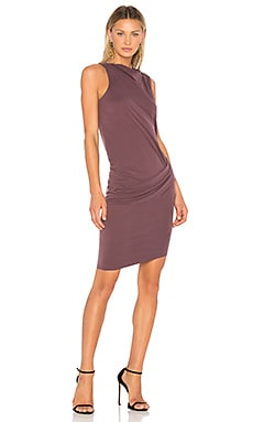 Mock Neck Draped Dress