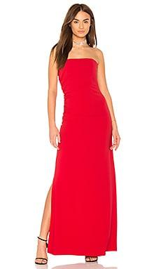 Платье со сборкой сбоку strapless - Halston Heritage
