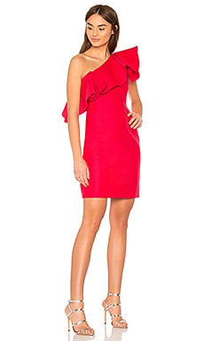 ROBE À VOLANT ONE SHOULDER Halston Heritage $87 (SOLDES ULTIMES)