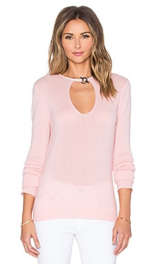 Halston Heritage Keyhole Front Sweater in Lotus