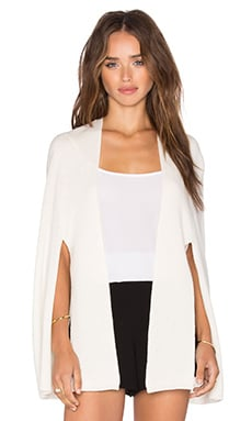 Front Tie Poncho in Eggshell