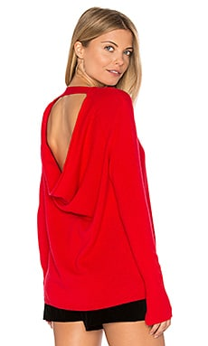 Round Neck Cashmere Sweater in Scarlet