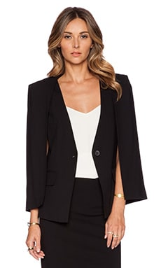 Halston Heritage Cape Detail Blazer in Black