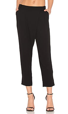 Wrap Front Pant in Black