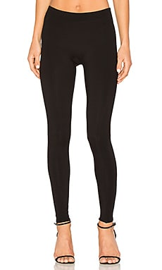 Slim Fit Ribbed Leggings em Preto