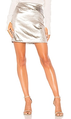 Faux Wrap Draped Mini Skirt