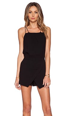 Skort Romper in Black