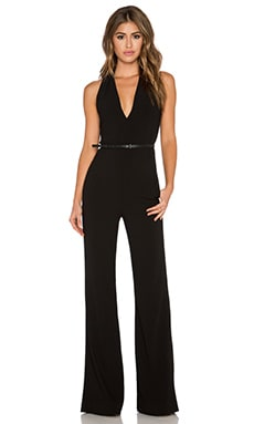 Halston Heritage Tailored Scarf Jumpsuit in Black