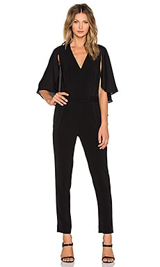 Halston Heritage Flowy Sleeve Jumpsuit in Black