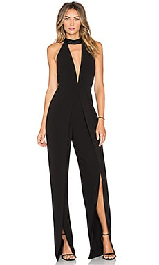 Halston Heritage High Neck Jumpsuit in Black