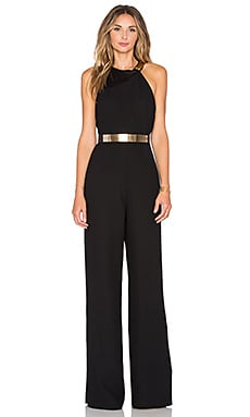 Halston Heritage Asymmetrical Jumpsuit in Black