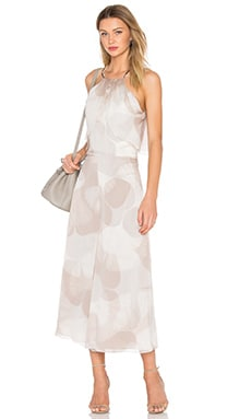 Drape Halter Jumpsuit in Pebble Botanical Print