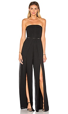 Strapless Overlay Jumpsuit in Black