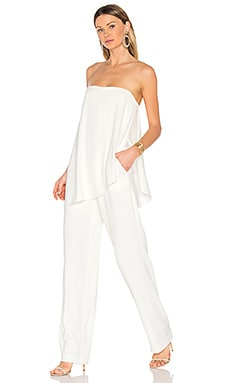 Asymmetrical Overlay Jumpsuit in Chalk